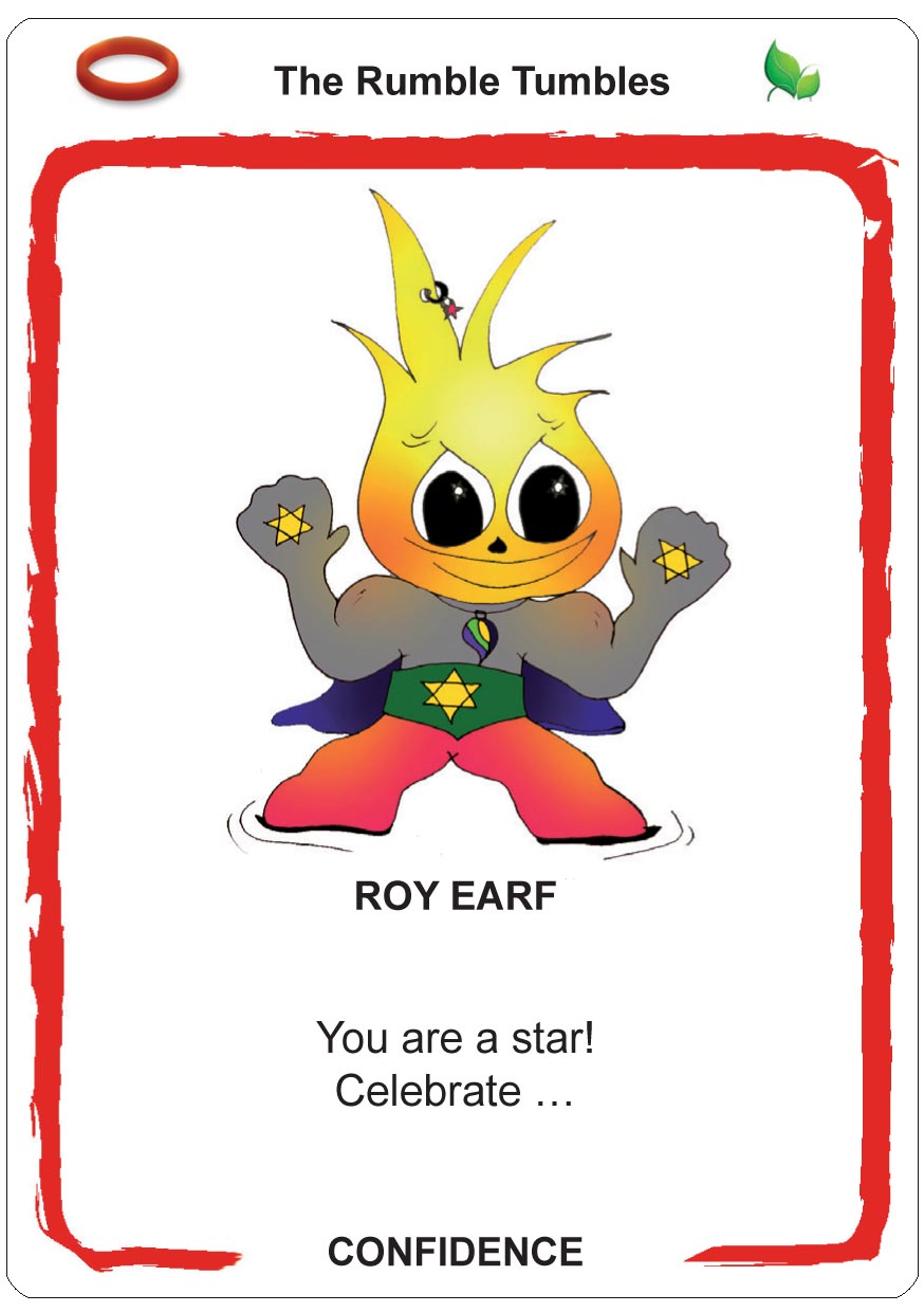 self-confidence for children - earfs - roy earfcards